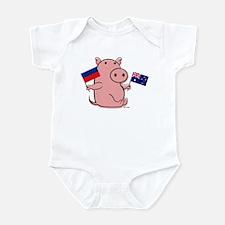 AUSTRALIA AND HAITI Infant Bodysuit