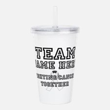 Personalize Team Acrylic Double-wall Tumbler