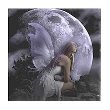 Fairy Moon Light Tile Coaster