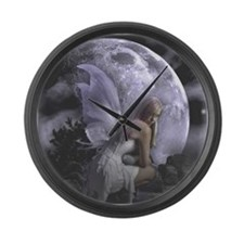Fairy Moon Light Large Wall Clock
