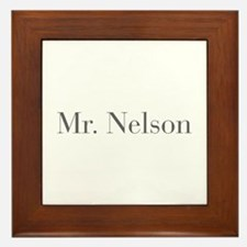 Mr Nelson-bod gray Framed Tile