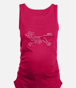 Leaping Lowchen Maternity Tank Top