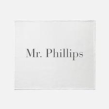 Mr Phillips-bod gray Throw Blanket