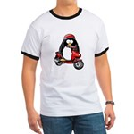 Red Scooter Penguin Ringer T