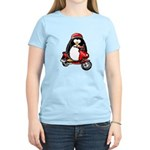 Red Scooter Penguin Women's Light T-Shirt
