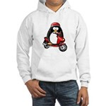 Red Scooter Penguin Hooded Sweatshirt