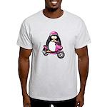 Pink Scooter Penguin Light T-Shirt
