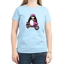Pink Scooter Penguin T-Shirt