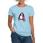 Pink Scooter Penguin Women's Light T-Shirt