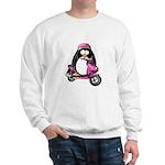 Pink Scooter Penguin Sweatshirt