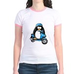 Blue Scooter Penguin Jr. Ringer T-Shirt