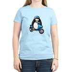 Blue Scooter Penguin Women's Light T-Shirt
