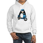 Blue Scooter Penguin Hooded Sweatshirt