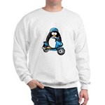 Blue Scooter Penguin Sweatshirt