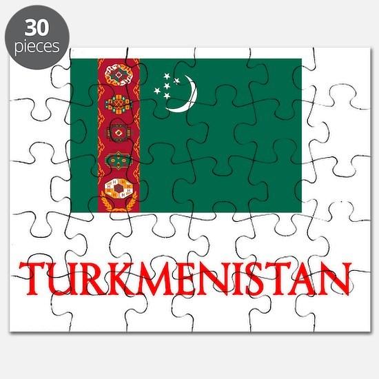 Turkmenistan Flag Design Puzzle