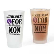 Alzheimers For Mom Drinking Glass