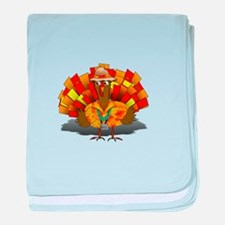 Thanksgiving Vacation Turkey baby blanket