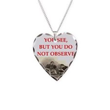 sherlock holmes quote Necklace Heart Charm