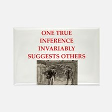 sherlock holmes quote Rectangle Magnet