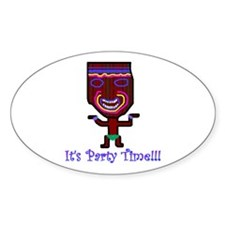 Party Tiki Oval Decal