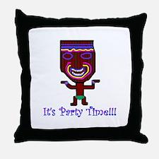 Party Tiki Throw Pillow