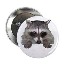 """Raccoon and Tracks 2.25"""" Button (10 pack)"""