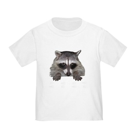 Raccoon and Tracks Toddler T-Shirt