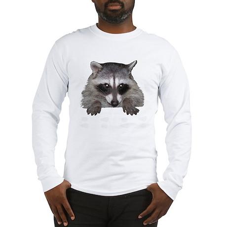 Raccoon and Tracks Long Sleeve T-Shirt