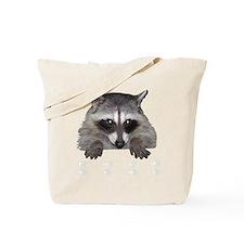 Raccoon and Tracks Tote Bag