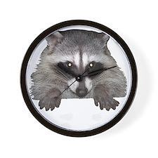 Raccoon and Tracks Wall Clock