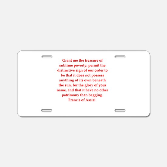 fa13 Aluminum License Plate