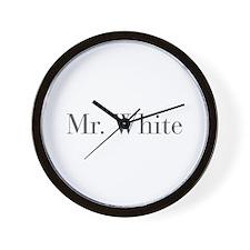 Mr White-bod gray Wall Clock