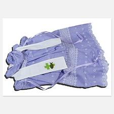 Purple Baptismal Gown Invitations