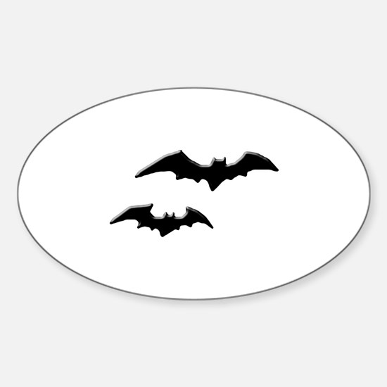Halloween Bats Oval Decal