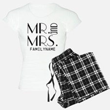 Personalized Mr. Mrs. pajamas