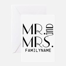 Personalized Mr. Mrs. Greeting Card