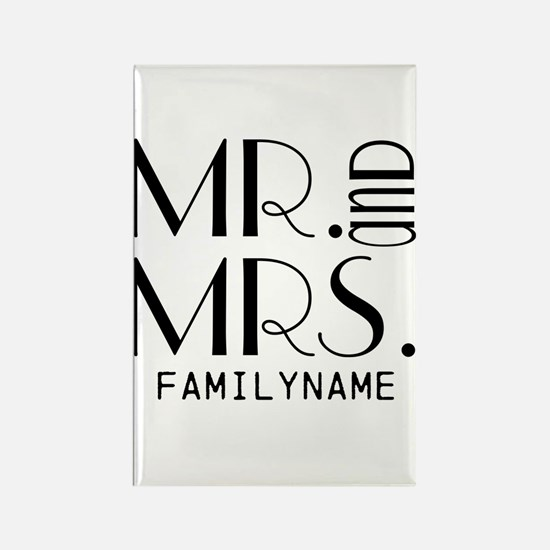 Personalized Mr. Mrs. Rectangle Magnet