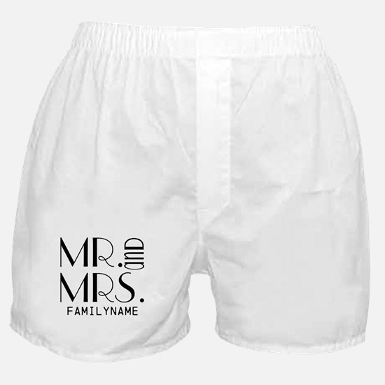 Personalized Mr. Mrs. Boxer Shorts