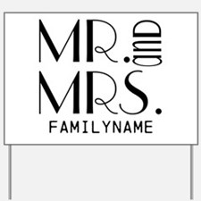 Personalized Mr. Mrs. Yard Sign