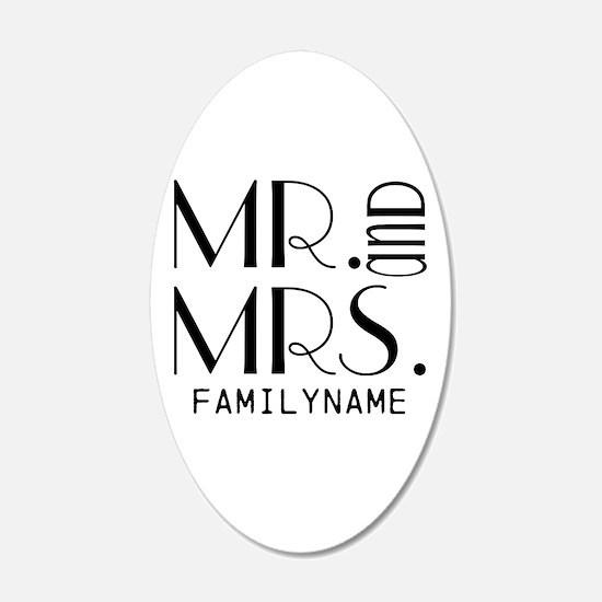Personalized Mr. Mrs. Wall Sticker