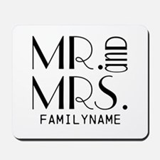 Personalized Mr. Mrs. Mousepad