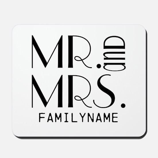 Personalized Mr. Mrs. Mousepad