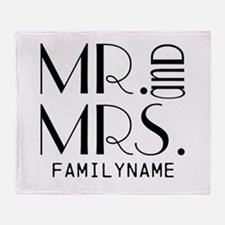 Personalized Mr. Mrs. Throw Blanket