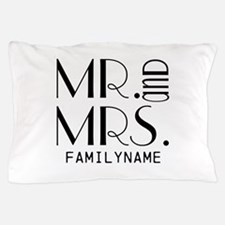 Personalized Mr. Mrs. Pillow Case