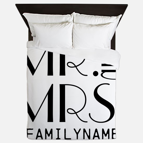 Personalized Mr. Mrs. Queen Duvet