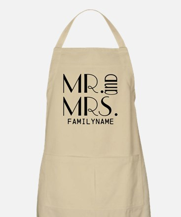 Personalized Mr. Mrs. Apron