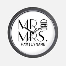 Personalized Mr. Mrs. Wall Clock