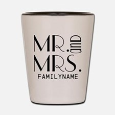 Personalized Mr. Mrs. Shot Glass