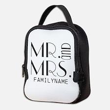 Personalized Mr. Mrs. Neoprene Lunch Bag