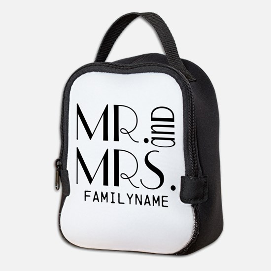 Personalized Mr. Mrs. Neoprene Lunch Bag